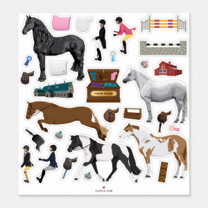 Dress Up Pony Stickers