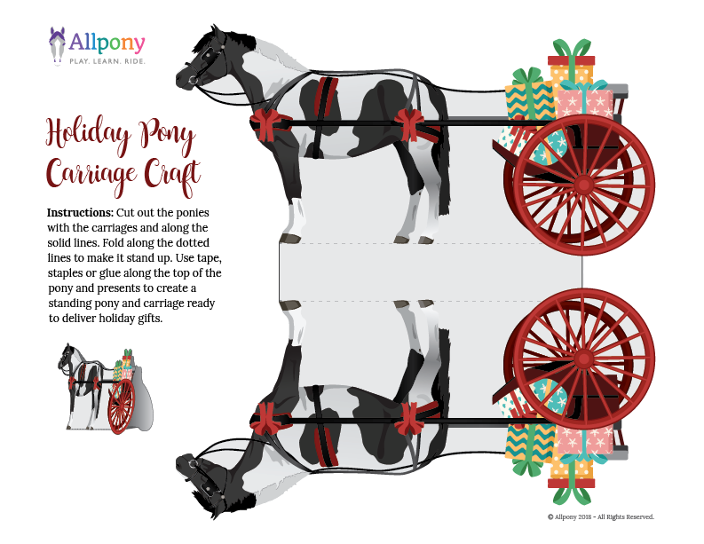 Holiday Pony Carriage Ride Craft Activity