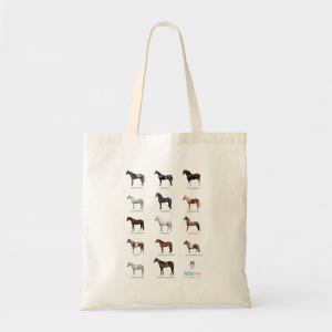 horse pony breeds tote bag