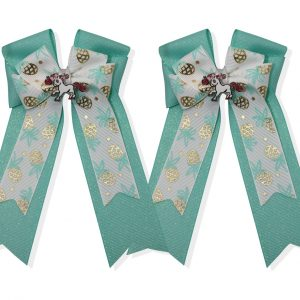 pineapples green horse show bows