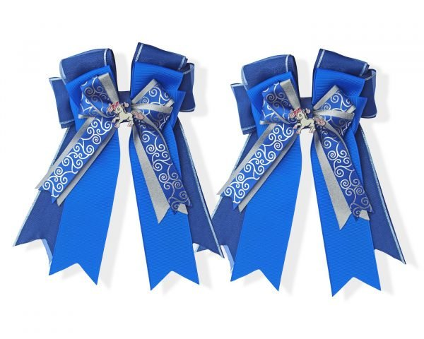 Blue Ribbons Horse Show Bows