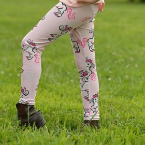 pink belle pony leggings