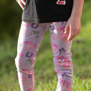 purple belle pony leggings