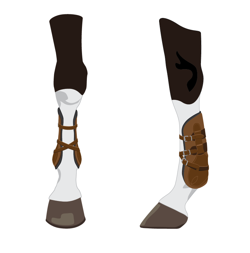 Open front boots illustration