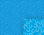 blue horseshoe pattern background