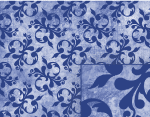 blue victorian background pattern